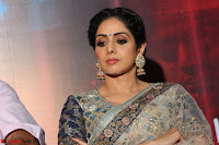 Sri Devi in designer saree stunning beauty at the launch of MOM movie Trailer~  Exclusive 104.JPG