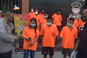 Polres Bojonegoro Bekuk 5 Pelaku Penyalahgunaan Narkoba