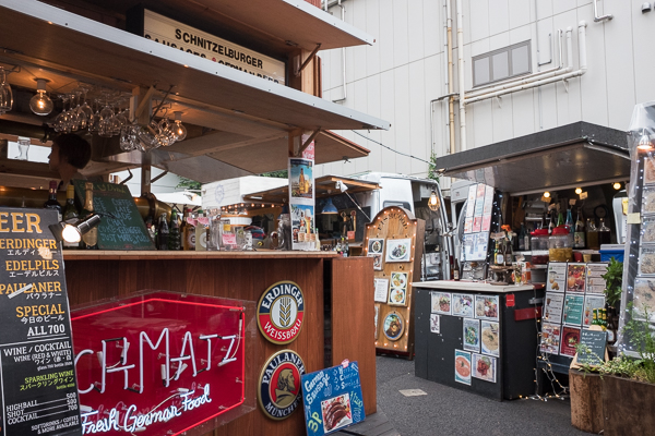 Schmatz German food stall in Commune 246, Minami Aoyama, Tokyo.
