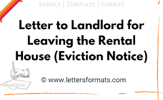 letter to landlord for leaving the house