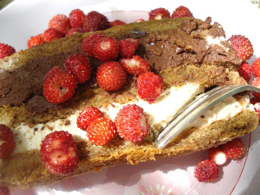 slice of Mocha chocalata dessert