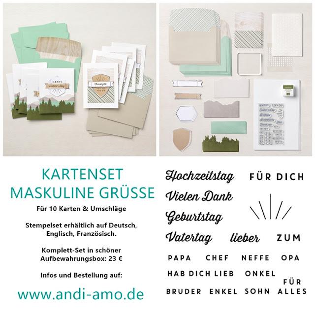 Stampin Up Kartenset Maskuline Grüße Produktlinie