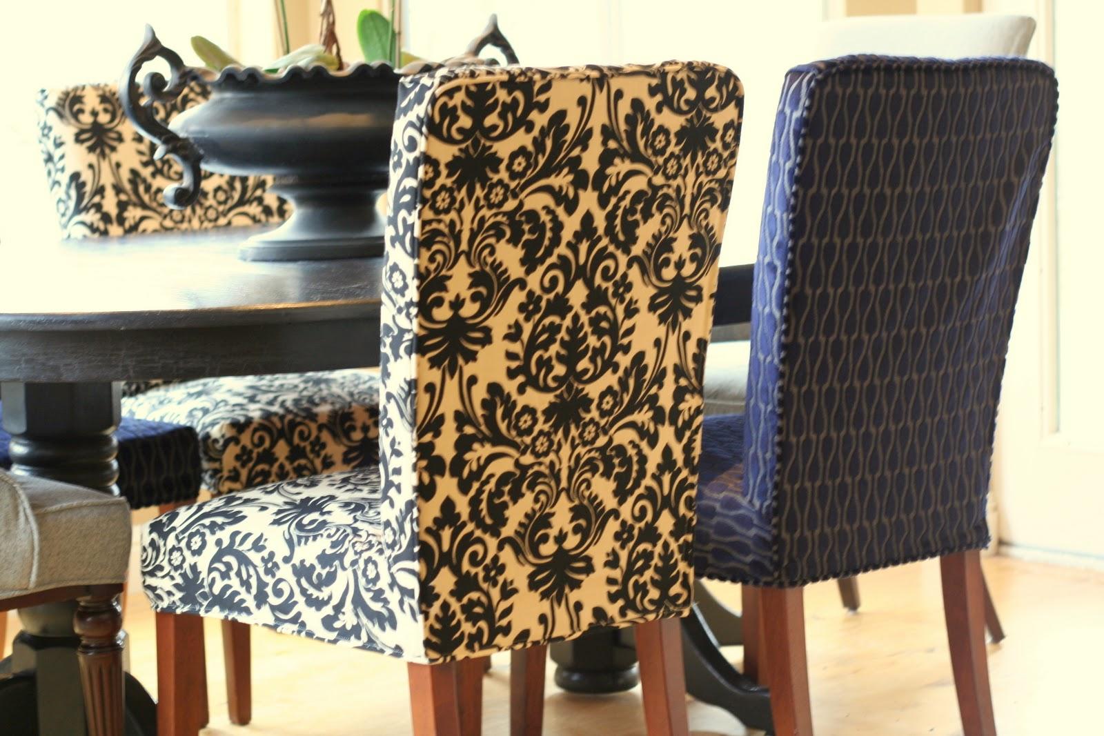Custom Slipcovers by Shelley Menswear Dining Room
