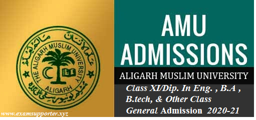 AMU Class XI/ Diploma in Engineering Admission  Application Form 2020-21 by examsupporter.xyz