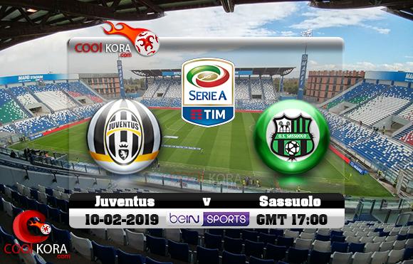 مشاهدة مباراة ساسولو ويوفنتوس اليوم 10-2-2019 في الدوري الإيطالي