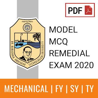 BATU Remedial MCQ for Mechanical