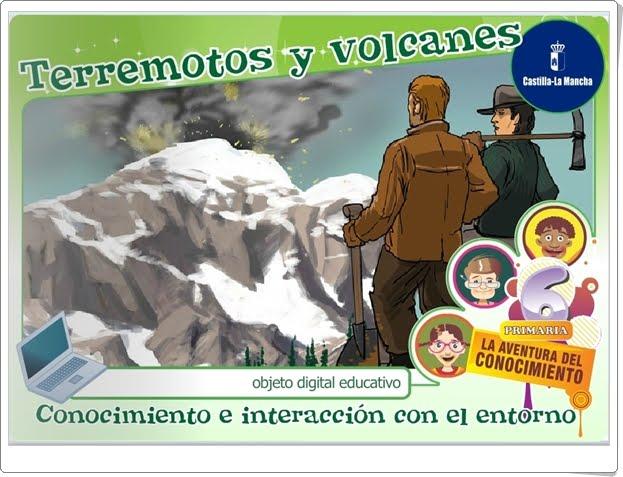 """""""Terremotos y volcanes"""" (Aplicación interactiva de Ciencias Sociales de Primaria)"""