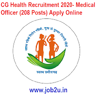 CG Health Recruitment 2020- Medical Officer (208 Posts) Apply Online