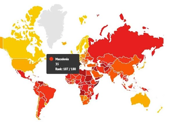 Corruption Index: Macedonia with lowest position in region