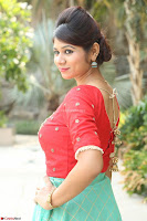 Lucky Shree Looks super cute in Bright Red Green Anarkali Dress ~  Exclusive 019.JPG