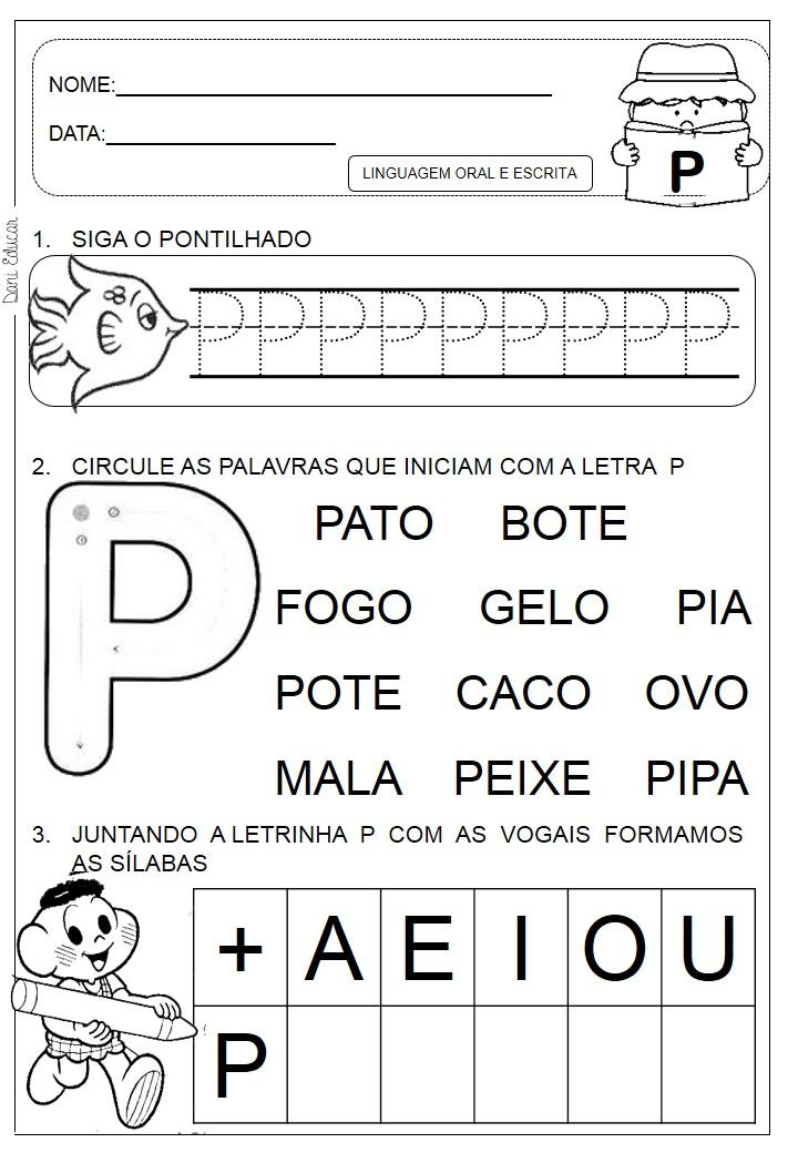 Atividades Letra P Portal Escola