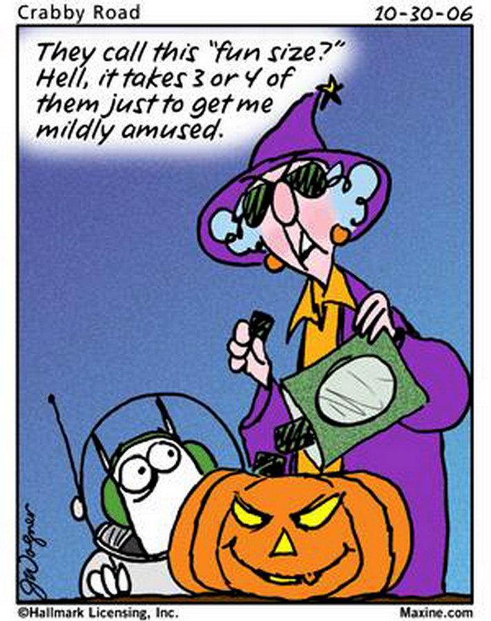 maxine cartoons fun funny humor halloween jokes cartoon happy comics candy lady chuck posted bozo am really very crabby does