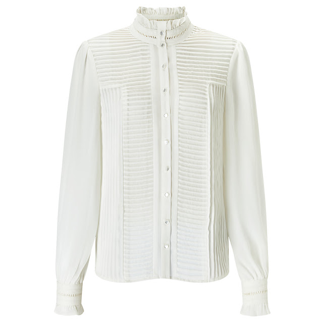 John Lewis Somerset by Alice Temperley Pintuck Blouse