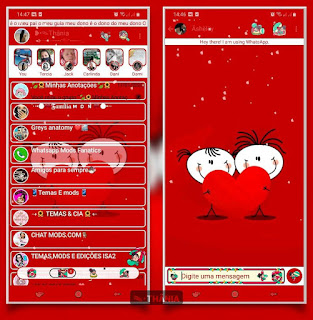 Casal Love Theme For YOWhatsApp & KM WhatsApp By Thania