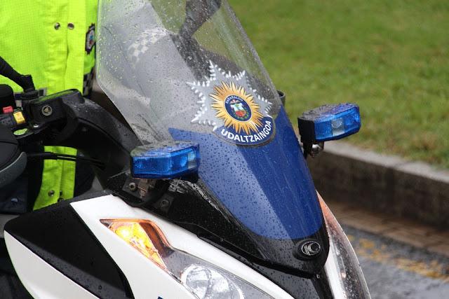 Moto de la policía local de Barakaldo