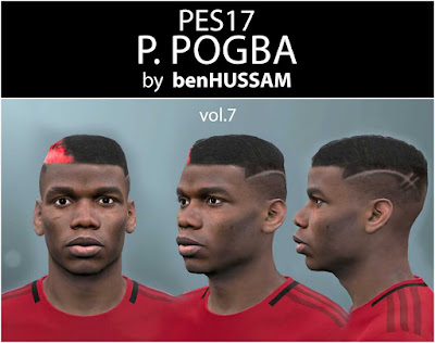 PES 2017 P. Pogba Face by benHUSSAM Facemaker