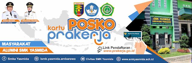 Banner Posko Kartu Prakerja SMK Yasmida Ambarawa