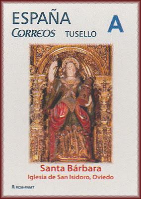 Santa Bárbara, San Isidoro, iglesia, Oviedo, filatelia, Tu sello, sello, personalizado