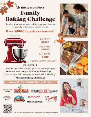 Family Baking Challenge Flyer