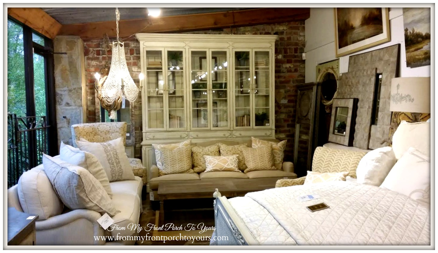 Laurie's Home Furnishings-French China Cabinet- From My Front Porch To Yours