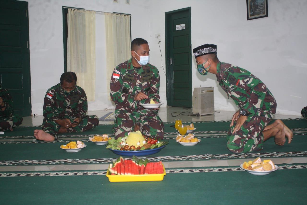 Tiba di Medan Tugas, Satgas Yonarhanud 16 Kostrad Gelar Syukuran