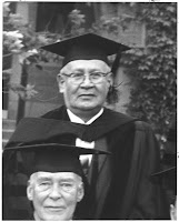 Frazier in doctoral robes at Dartmouth's 1964 commencement