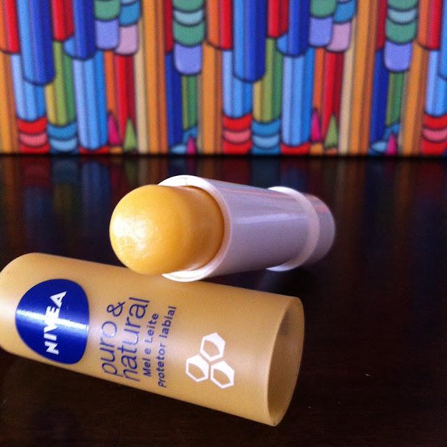 Resenha: Protetor Labial Puro & Natural  Mel e Leite - Nivea