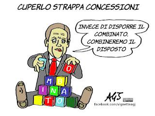 cuperlo, renzi, referendum, italicum, satira, vignetta