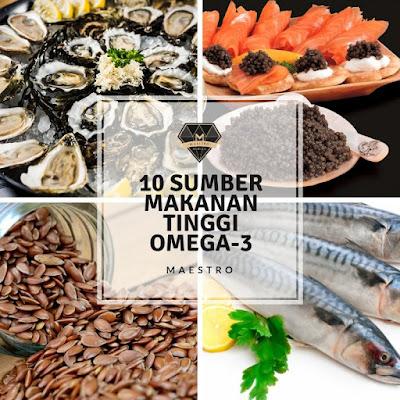 10 Makanan Tinggi Dengan Omega-3