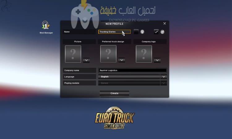 تحميل لعبة الشاحنات Euro Truck Simulator 2 للكمبيوتر مضغوطة