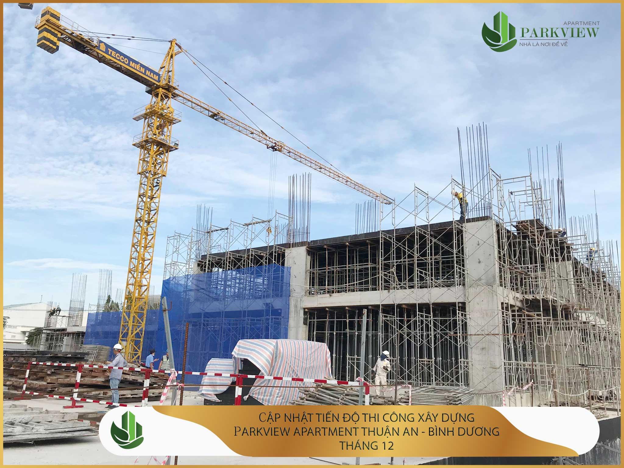 Tiến độ thi công xây dựng căn hộ chung cư Parkview Apartment Thuận An