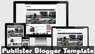 Publister blogger template  Primium Download