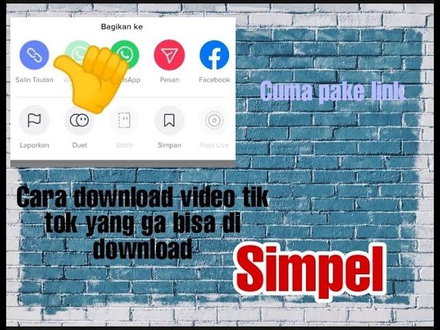 Cara Download Video Tiktok yang Tidak Bisa Didownload