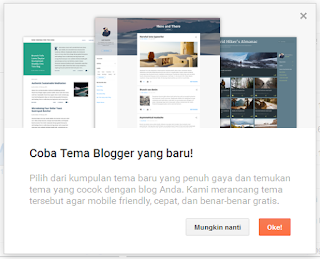 Tema Baru Blogger