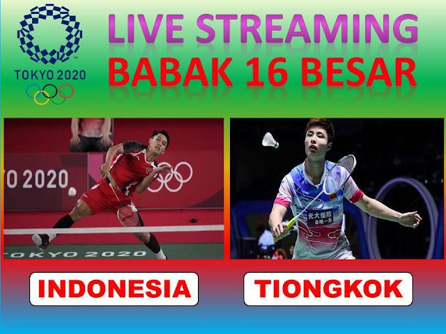 Link Live Streaming Olimpiade Badminton Tunggal Putra : Jonatan Cristie (Indonesia) Vs Shi Yuki (Tiongkok) Jam 17.15