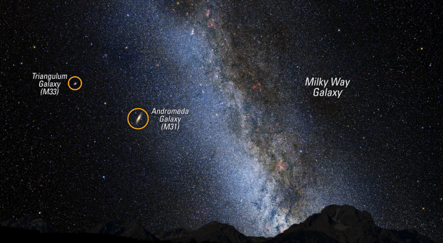 Milky Way Andromeda Galaxy - Pics about space