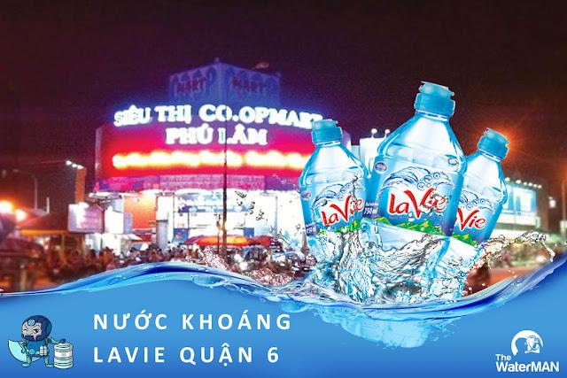 Đại lý đặt nước khoáng Lavie, Viva bình 20L, thùng đóng chai tại Quận 6