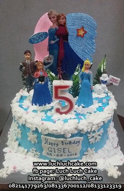 Luch Luch Cake Kue Tart Ulang Tahun Frozen Buttercream