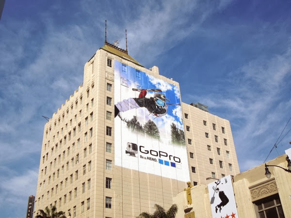 Giant GoPro skier billboard Hollywood
