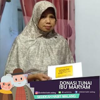 Ibu Maryam : Donasi Tunai