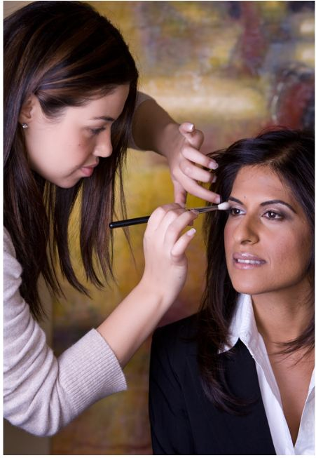 Professional Makeup Artists In Kenya: Professional Makeup Artist Eman With Client