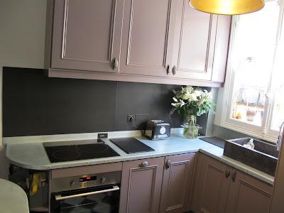 paris zinc plan de travail et cr dence habill de zinc. Black Bedroom Furniture Sets. Home Design Ideas