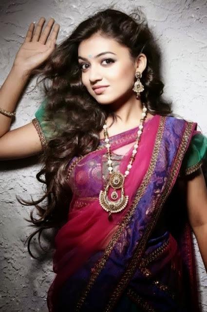 Nazriya Nazim saree