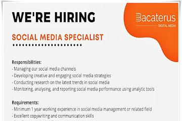 Lowongan Kerja Social Media Specialist Bacaterus Bandung