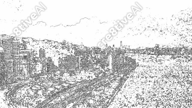 街並み_線画1