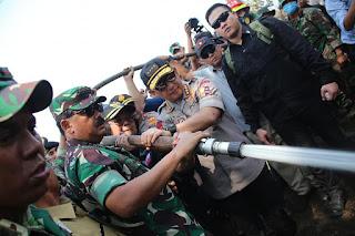 Panglima TNI Tinjau Lokasi Karhutla di Riau