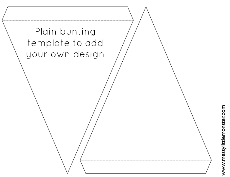 free printable bunting template