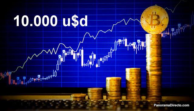 El #Bitcoin alcanza los 10.000 dolares rompiendo todas las barreras