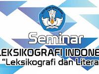 Jadwal Pendaftaran Seminar Leksikografi Indonesia (SLI) 2019