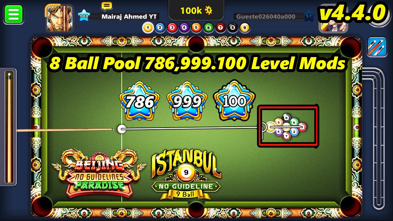 8 Ball Pool 999 Level Mod 4 4 0 - Mairaj Ahmed Mods